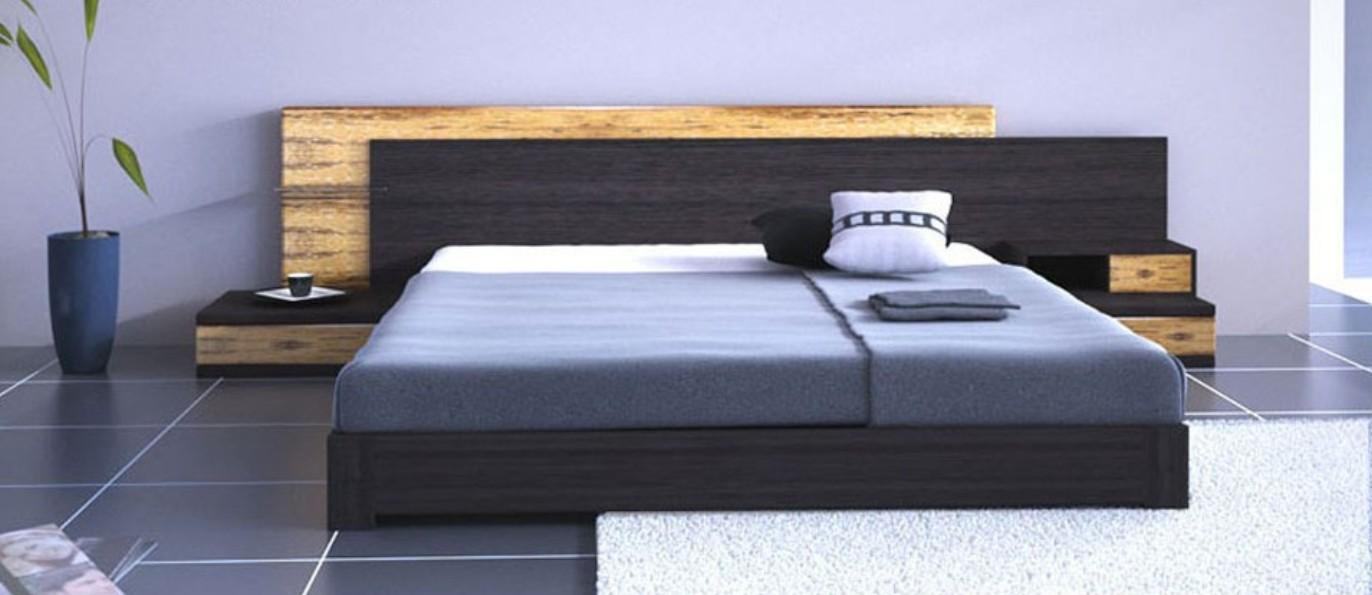 Simple Creative Bed Design Rendering