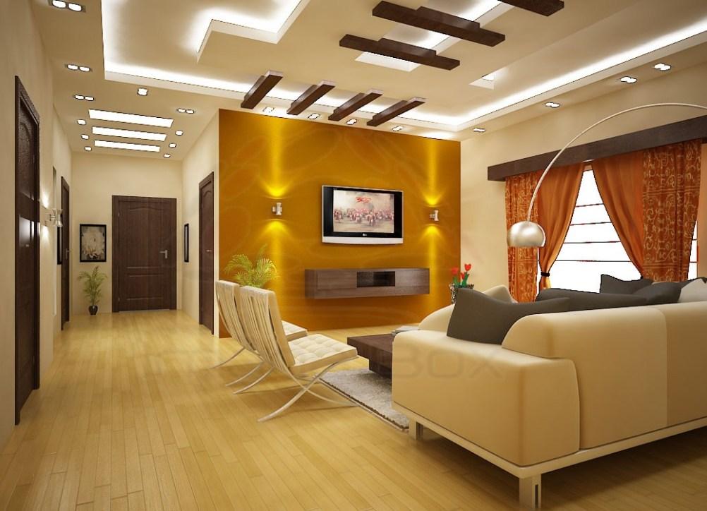 False ceiling - living room - Woody Uncle Sam
